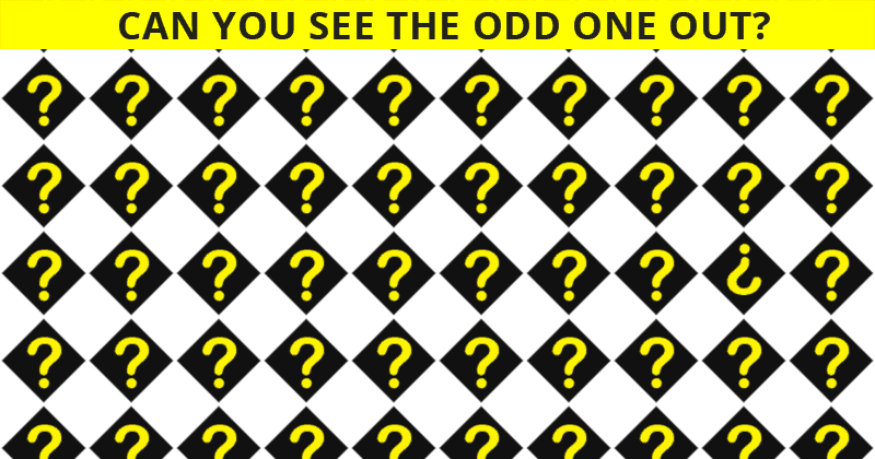 This Odd One Out Test Will Determine Your Visual Perception Abilities In One Minute