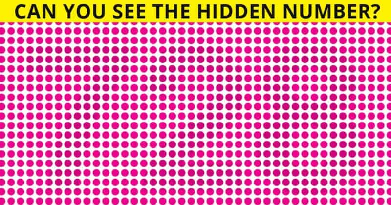 Can You See All The Hidden Numbers In Under 30 Seconds?