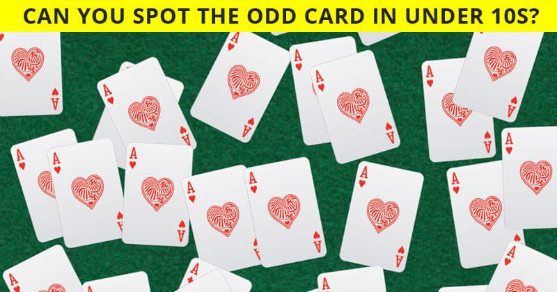 Can You Identify The Odd Cards Out In This Difficult Test?