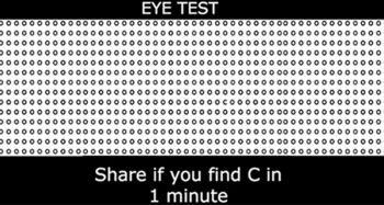 """Can You Spot The """"C"""" In This Picture In Less Than 60 Seconds?"""