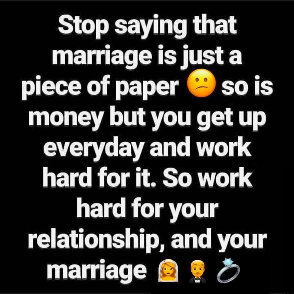 Marriage is more than a piece of paper