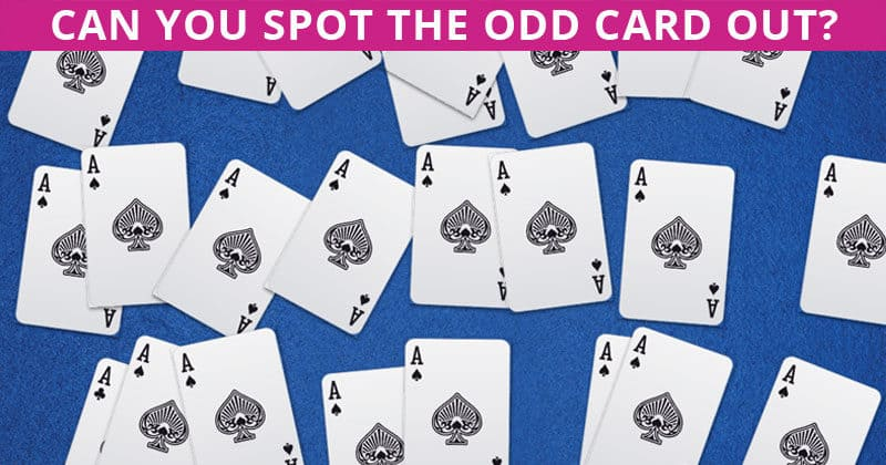 Challenge Time: Can You Find The Odd Card Out In All These Images?