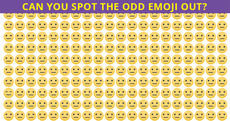Most People Cannot Spot The Odd Emoji Out In Less Than 10 Seconds Can You?