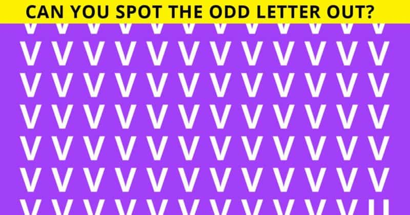 Only 1 In 50 Americans Can Find Odd Letter Out In 30 Seconds. Can You?