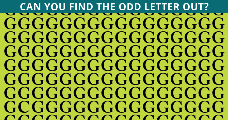 Nobody Can Solve This Viral Test. Can You Spot The Odd One Out In Under 10 Seconds?