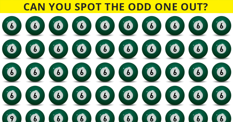 This Odd One Out Puzzle Will Determine Your Visual Perception In Less Than One Minute