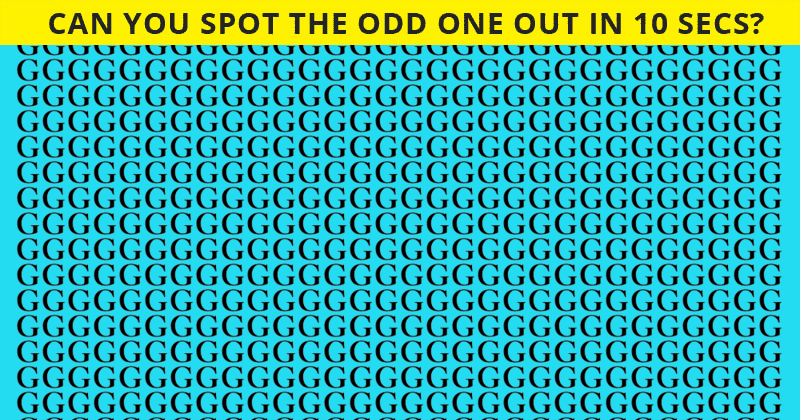 If You Can Pass This Tricky Odd One Out Visual Challenge In 30 Seconds, You Have Unique Eyesight