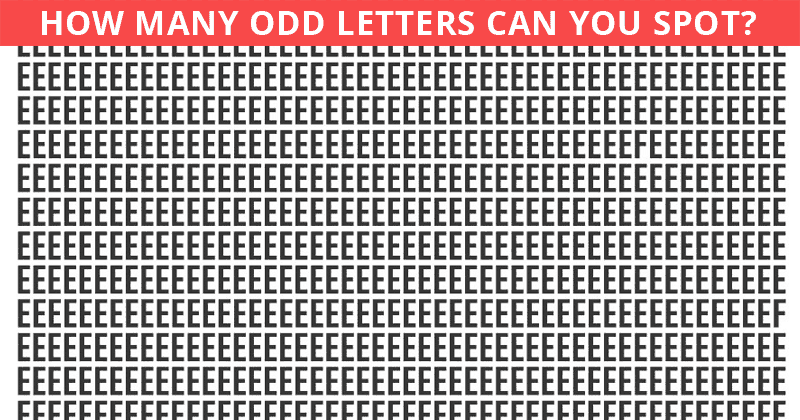 "How Many Letter ""F""s Can You Find In Under One Minute?"