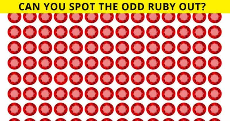 How Quickly Can You Spot The Odd Ruby? Not Many People Can Do It Under 10 Seconds