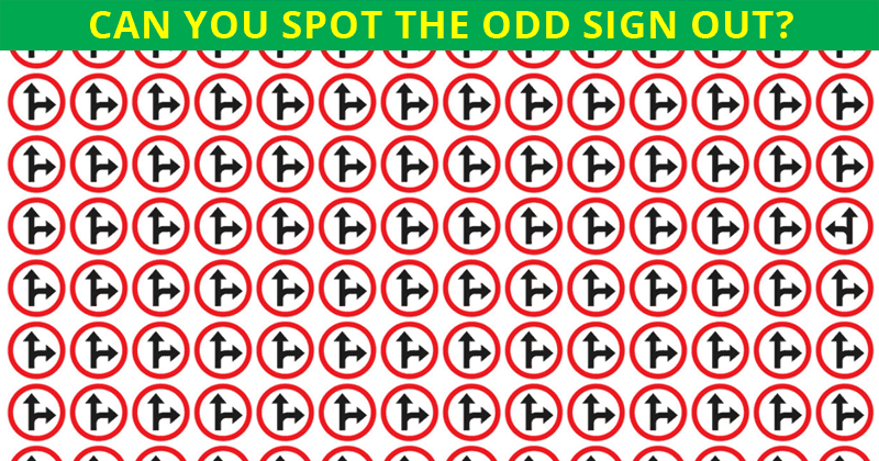 Nobody Can Solve This. Can You Spot The Odd Road Sign Out Immediately?