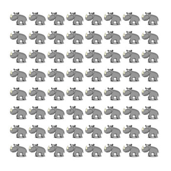 Find The Hippo Hiding In The Rhinos – Only People with Sharp Vision Can Pass This Test!