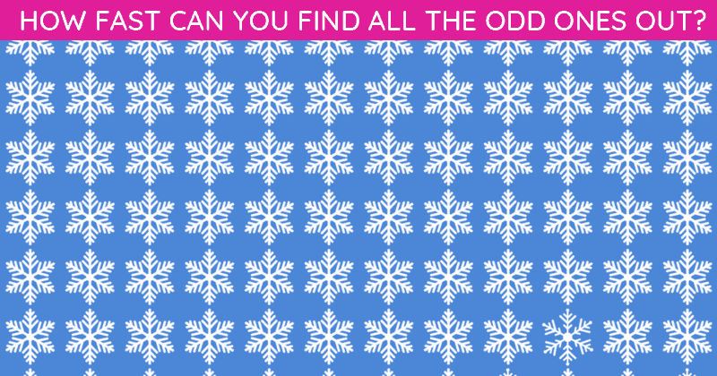 Only 1 In 50 People Can Achieve 100% In This Odd One Out Visual Task. Are You Up To The Task?