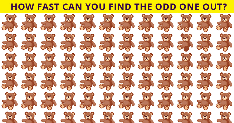 Only 10% Of People Can Ace This Odd One Out Visual Puzzle. Are You Up To The Task?