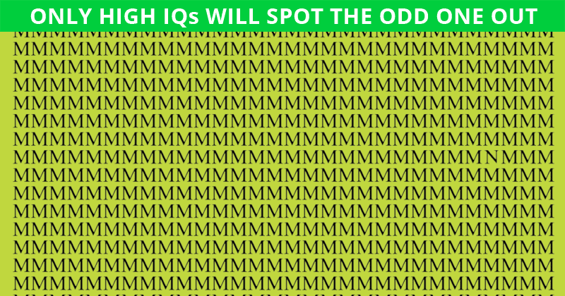 Only 5% Can Nail This Odd One Out Test! Find Out If Your IQ Is High Enough To Pass This Challenge